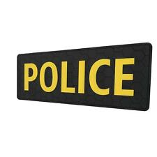 """POLICE Big 10""""x4"""" PVC rubber body armor plate carrier tactical parche hook patch"""