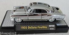 1/64 M2 Machines 1955 Desoto Firelite 1 of 150 Chrome Acrylic Case