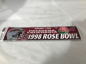 Wincraft Pasadena California 1998 Rosebowl WSU Washington State Univ Sticker