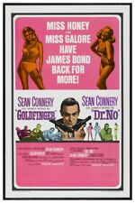 "JAMES BOND - GOLDFINGER & DR NO - MOVIE POSTER 12"" X 18"" SEAN CONNERY"