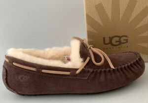 [1003390-ESP] UGG Men's Olsen Moccasin Slippers Suede Espresso *NEW*
