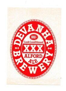 OLD BEER LABEL/S  - UK - DEVANHA ALFORD ALE CASK