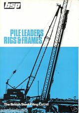 Equipment Brochure - British Steel Piling - Pile Leaders Rigs - c1970's (E1709)