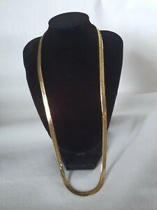 Vintage Gold Tone Herringbone Chain