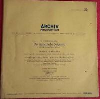 Das italienische Seicento / Claudio Monteverdi / La Cantata / Archiv LP Vinyl