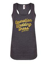 Operation Wedding Dress - Personalised Women's Racerback Vest Gym Bride Tank Top
