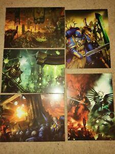 Warhammer 40k Indomitus promo art cards