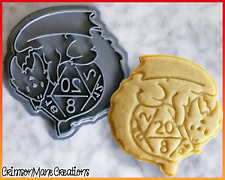 D20 Dice Dungeons and Dragons Cookie Cutter DnD Geek Baking Supply Fondant Tool