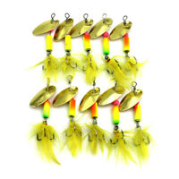 10PCS Spinnerbaits Spoon Bait 5.5cm/3.7g Metal Crankbait Fishing Lures Blade
