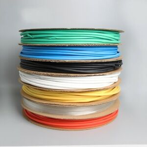 Heat Shrink 2:1 Tube Tubing Sleeve Electrical Sleeving Cable Wire All Colours