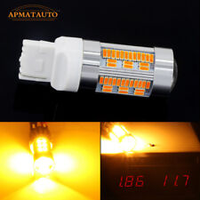 2xCanbus No Hyper Flash Amber Yellow 7440 WY21W T20 LED Bulbs Turn Signal Lights