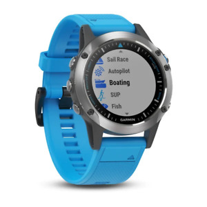 Garmin quatix® 5 Stainless Steel with Blue Band