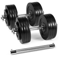 New 190 lbs Adjustable Dumbbells Set - Weights, Handles, Connector Bar < 200 lbs