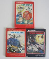 Intellivision Video Game Lot Space Battle Space Armada Sea Battle with Boxes