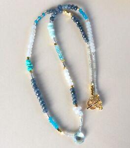 New Sundance Charm Necklace turquoise aquamarine amazonite labradorite apatite