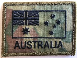 Australian National Flag Patch Multicam with hook backing.