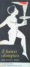 IL FUOCO OLIMPICO dalla Grecia a Roma, OLIMPIADI 1960, C.O.N.I - T.C. 3 LINGUE