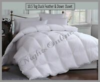 New Hotel Quality Duck Feather & Down Duvet, 10.5 Tog Quilt All Sizes Available