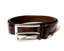 PRADA Dark-Brown Crocodile Leather Belt 42/105