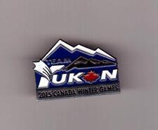 TEAM YUKON Purple 2015 Prince George Canada Winter Games Athlete Pin Very Rare