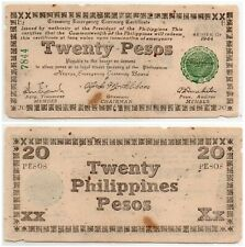 PHILIPPINES Negros Emergency Note 1944 20 Pesos S678 White Paper WW2 57k Printed