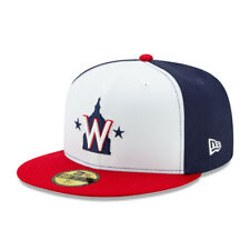 New Era 59Fifty Washington Nationals ALT 2 Fitted Hat (Navy/White/Red) MLB Cap