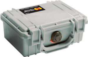 Silver Gray Pelican ™ 1150 empty Case includes free Engraved Nameplate Colors