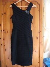 NEW WOMEN'S BLACK XSCAPE DRESS By Joanna Chen gem/jewel detail RRP £39.99 UK 6