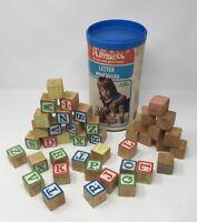 Playskool Letter Wood Blocks Vintage Toy