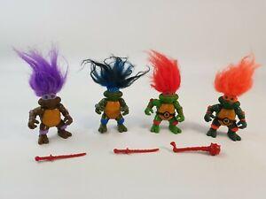Trolls Teenage Mutant Ninja Turtles TMNT Playmates Action Figure Bundle Leo Don