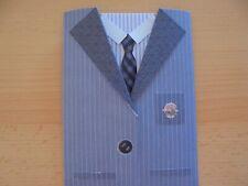 Grußkarte Herrenkarte Anzug Sakko Tracht 3D Rens Reddy Handarbeit NEU!!!