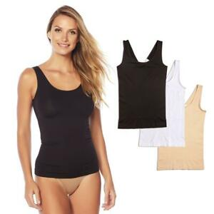 Yummie 3-pack Seamless 2-Way Shaping Tank Blk/Wht/Frappe Size L/XL #607709 HSN