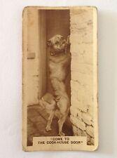 Dog At The Cook House De Reszke 1932 Real Photographs Cigarette Card (B71)