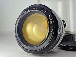 [Near MINT!] Nikon Nikkor-S Auto Non Ai 55mm f/1.2 MF Standard Lens Japan JP SLR