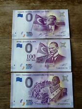 3 x 0 euro souvenir mix/ 0 euro / UNC / TUAB/TUAK/HTAA - 3 pcs -DIFFERENT SERIAL