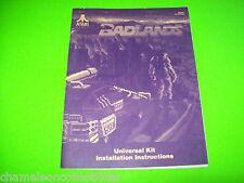 BADLANDS By ATARI 1989 VIDEO ARCADE GAME INSTALLATION INSTRUCTIONS MANUAL