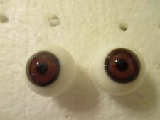 16 mm Antique Brown Handblown Lauscha Glass Eyes 9 mm Iris Germany Me1