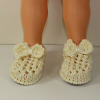PRINTED KNITTING INSTRUCTIONS-TODDLER LACEY BOW SANDALS SHOES KNITTING PATTERN