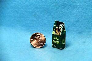 Dollhouse Miniature Detailed Replica  Dog Chow Food Small Bag HR57183