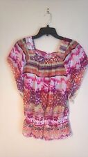 BELLE DU JOUR Size (M) PINK CAP SLEEVE PULL-OVER TOP (NWOT)