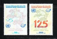United Arab Emirates 2001 MNH Sc 639-640 UPU ,125th anniversary