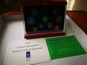 The 1992 UK Proof Coin Set Red Leather Case