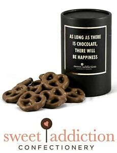 60g Premium Milk Chocolate Covered Pretzels - Gift Box Cylinder