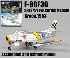 US F-86F Sabre Korea 1953 Chrles McSain aircraft 1/72 diecast plane Easy model
