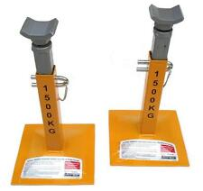 STANFRED PAIR TWIN PIN & SCREW TYPE VEHICLE CAR SUPPORT AXLE STANDS
