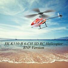 XK Blast K110-B 6CH 3D 6G System Brushless Motor BNF RC Helicopter No Tx 25O0