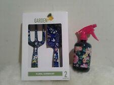 New Floral Print Garden Tool Trowel ,Rake & spray bottle Set