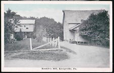 KRESGEVILLE PA Kunkle's Mill Vintage Postcard Early Town View Old B&W Blue Sky