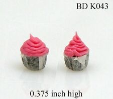 STRAWBERRY CUP CAKES Dollhouse Miniature 1:12 Scale Kitchen Accessories Food
