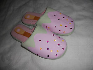 Peter Alexander Ladies Ice Cream Bar Scuff Slippers Size S    NWT